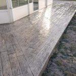 Hormigón impreso en terrazas 1